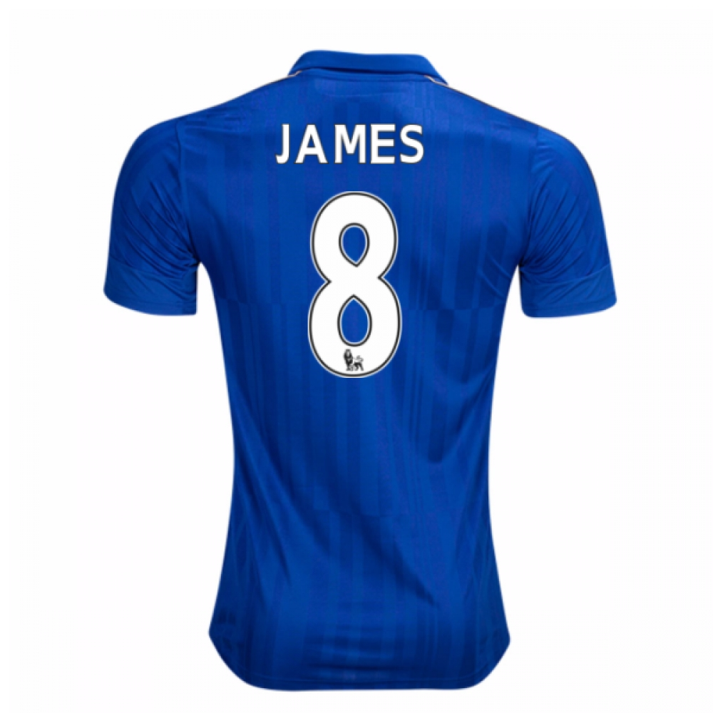 2016-17 Leicester City Home Shirt (James 8) - Kids