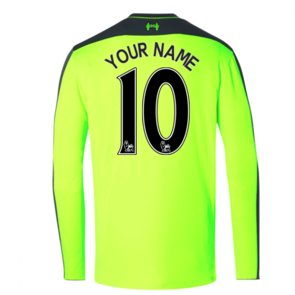 2016-17 Liverpool Third Long Sleeve Shirt (Your Name) -Kids