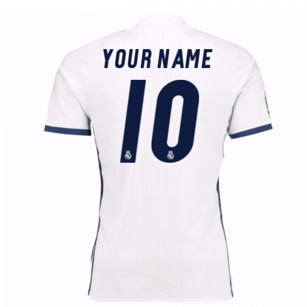 2016-17 Real Madrid Home Shirt (Your Name)