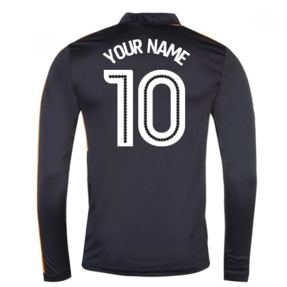 2016-17 Newcastle Away Long Sleeve Shirt (Your Name)