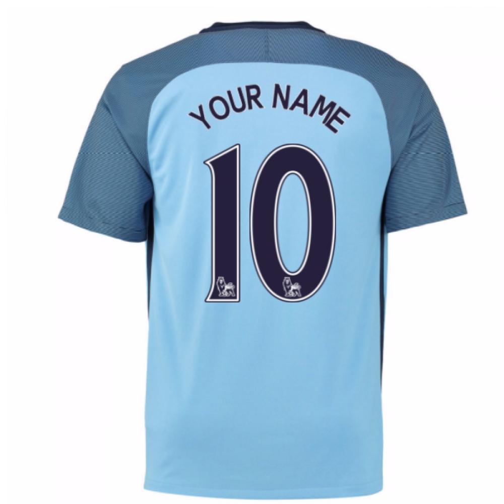 2016-17 Man City Home Shirt (Your Name) -Kids