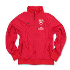 08-09 Arsenal Woven Warmup Jacket (red)
