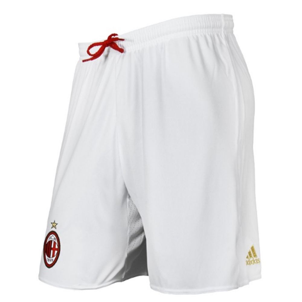 2016-2017 AC Milan Adidas Away Shorts (White)