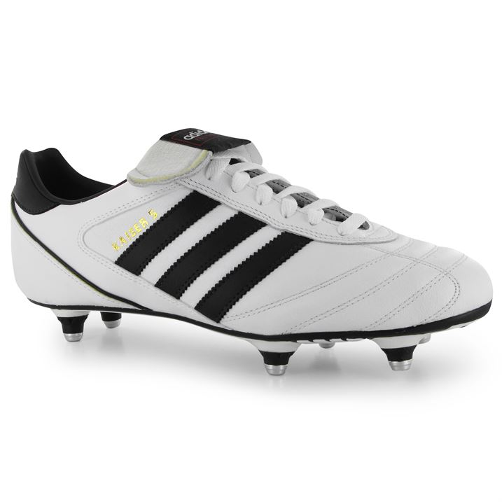 Adidas Kaiser Cup SG Mens Football Boots (WhiteBlack)
