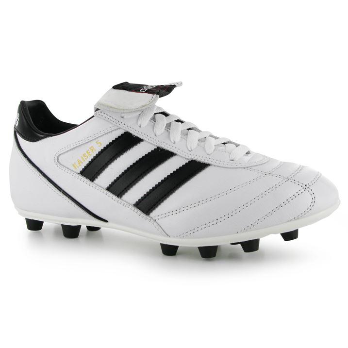 Adidas Kaiser Liga FG Mens Football Boots (WhiteBlack)