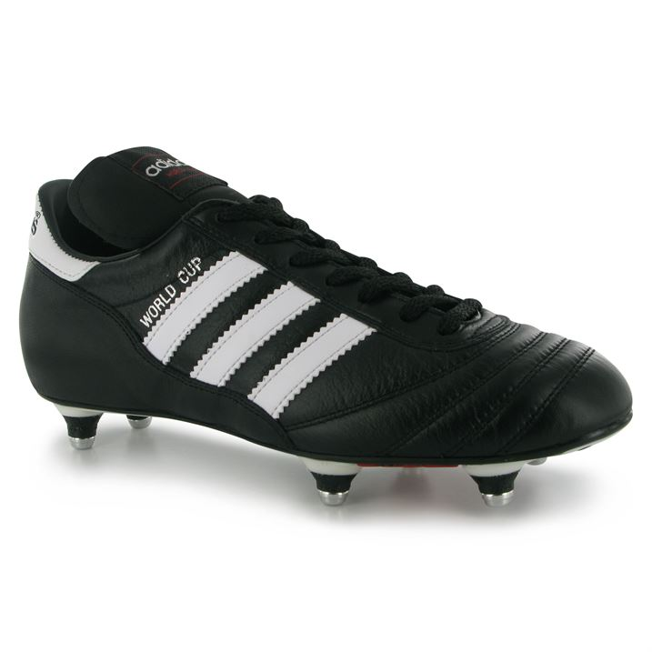 Adidas World Cup SG Mens Football Boots (BlackWhite)