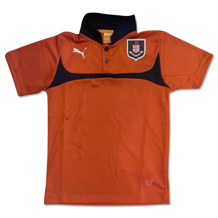 2014-2015 Airdrieonians Puma Polo Shirt (Red-Black) - Kids
