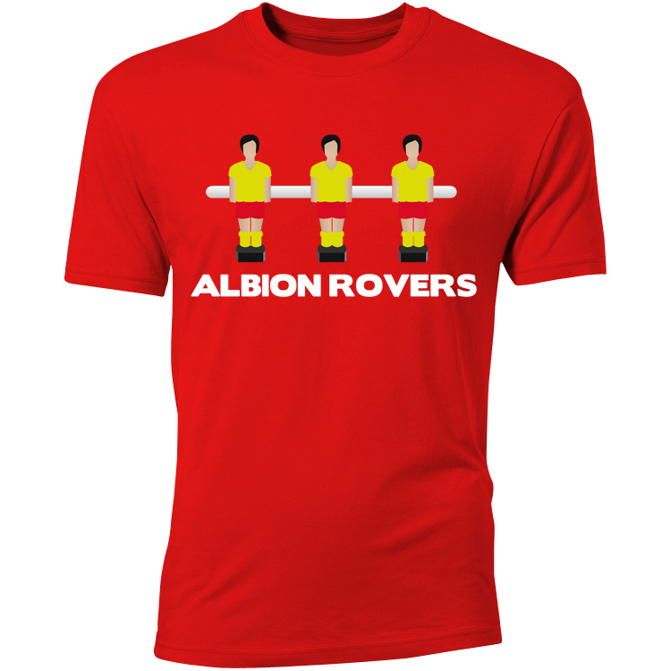 Albion Rovers Table Football TShirt (Red)  Kids