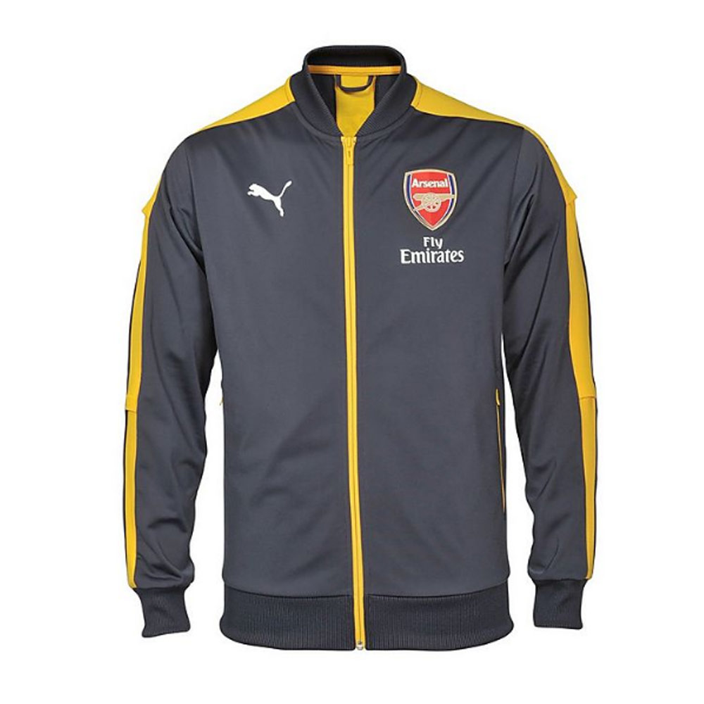 20162017 Arsenal Puma Stadium Jacket (EbonyYellow)  Kids