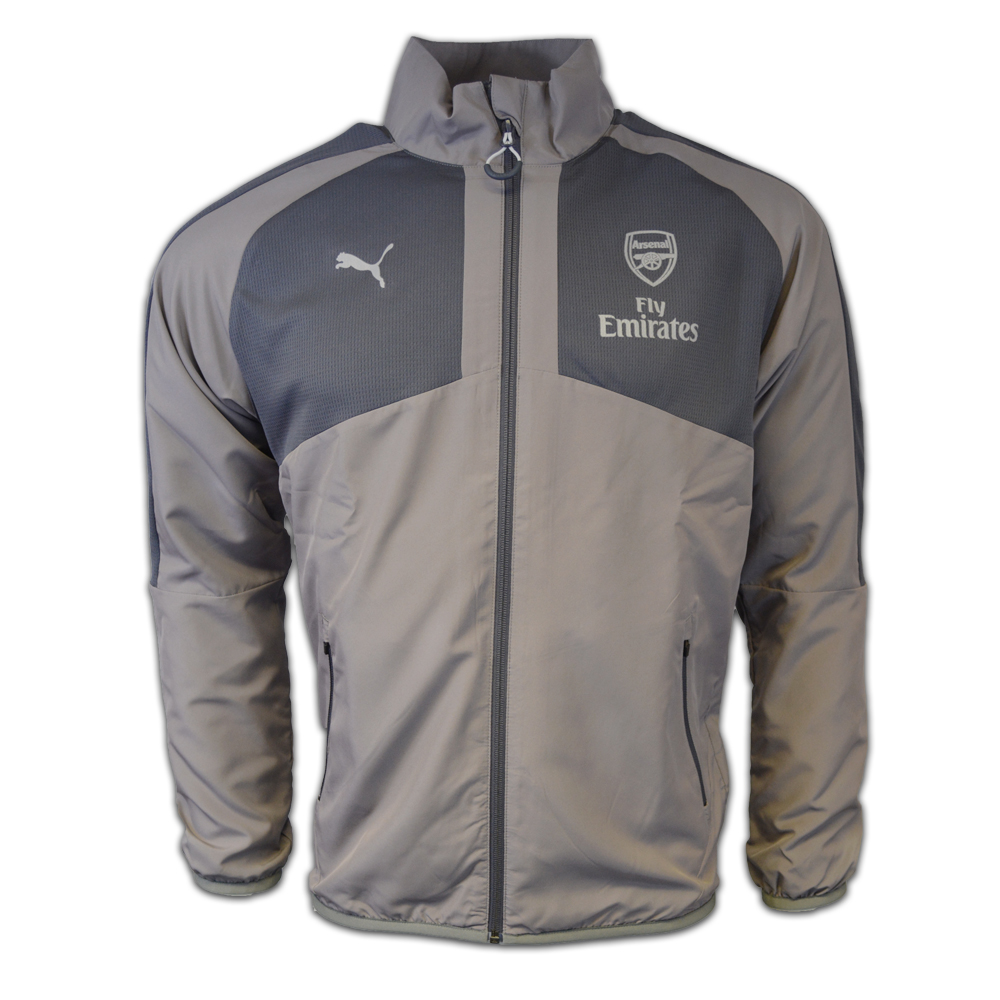 20162017 Arsenal Puma Casual Performance Woven Jacket (Grey)  Kids
