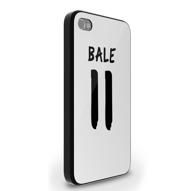 Gareth Bale Real Madrid iPhone 5 Cover (White-Black)