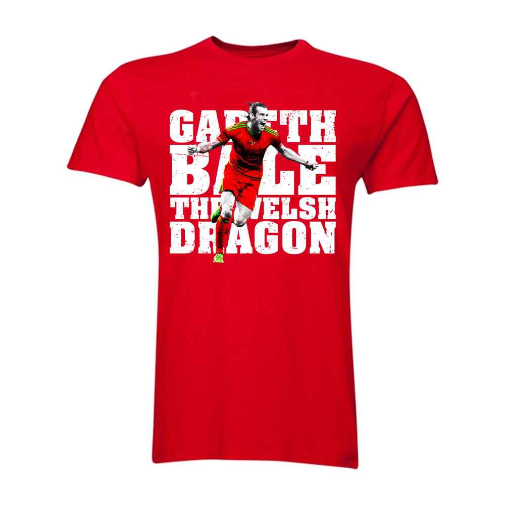 Gareth Bale The Welsh Dragon T-Shirt (Red)