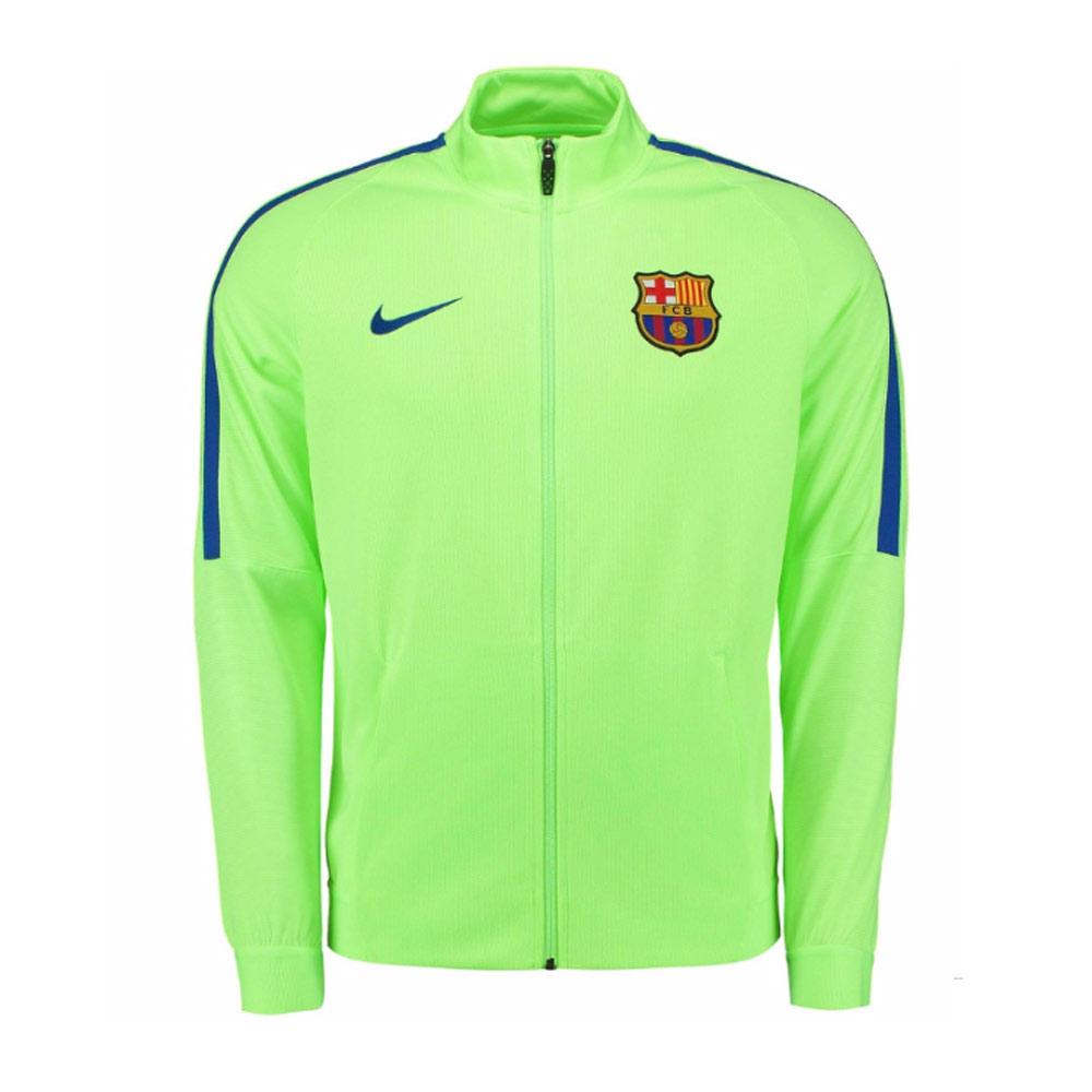 2016-2017 Barcelona Nike Revolution Strike Jacket (Ghost Green)