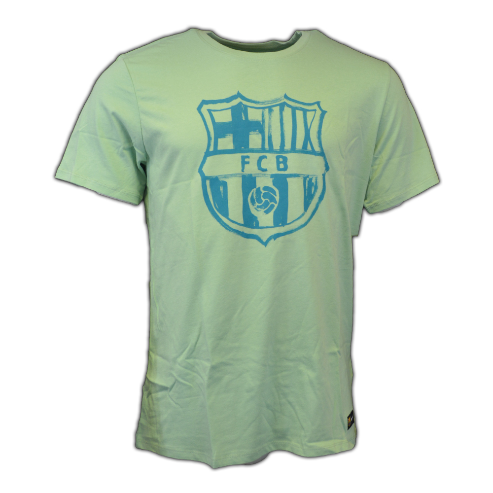2016-2017 Barcelona Nike Crest T-Shirt (Enamel Green)