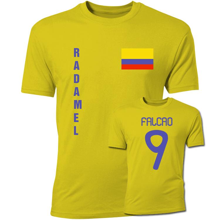 Radamel Falcao Colombia Flag T-Shirt (Yellow)