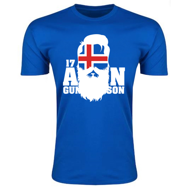 Iceland Aron Gunnarsson T-Shirt (Blue) - Kids