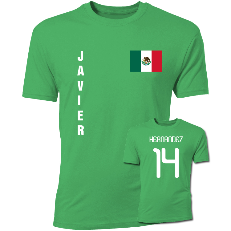 Javier Hernandez Mexico Flag T-Shirt (Green)
