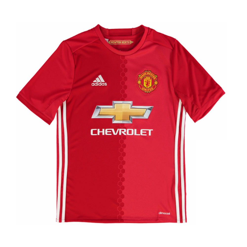 20162017 Man Utd Adidas Home Football Shirt (Kids)