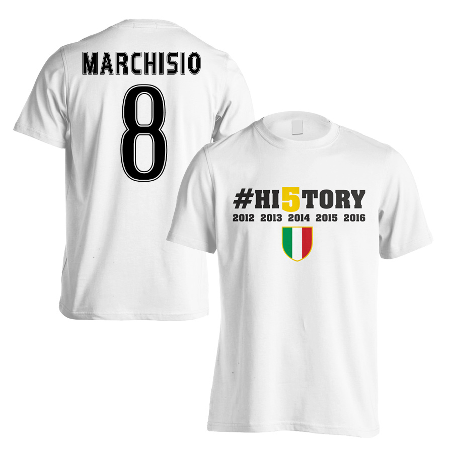 Image of Juventus History Winners T-Shirt (Marchisio 8) - White (Kids) - LB