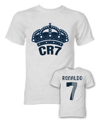 Image of Cristiano Ronaldo CR7 Real Madrid T-Shirt (White) - S