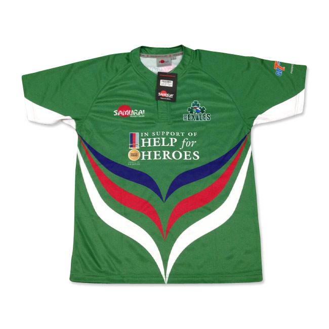2014 Irish Exiles RFC GB 7s Rugby Shirt
