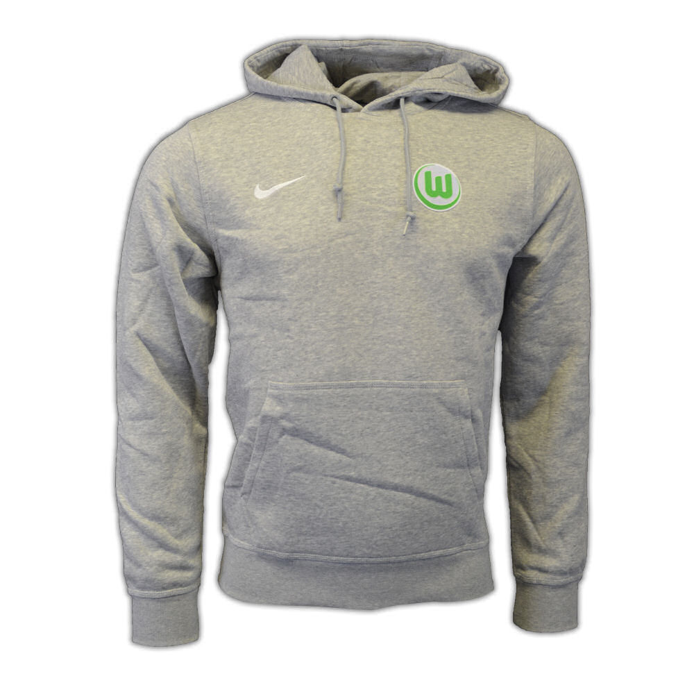 2016-2017 VFL Wolfsburg Nike Core Hooded Top (Grey)