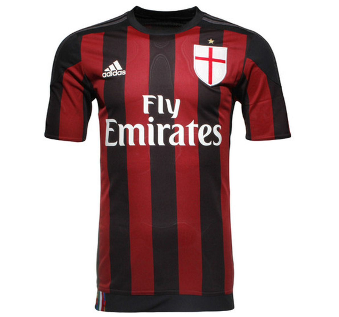 2015-2016 AC Milan Adidas Authentic Home Football Shirt
