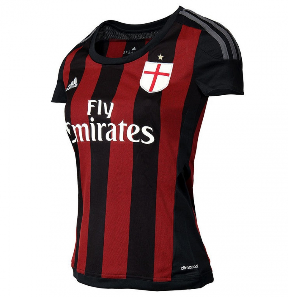 20152016 AC Milan Adidas Home Womens Shirt
