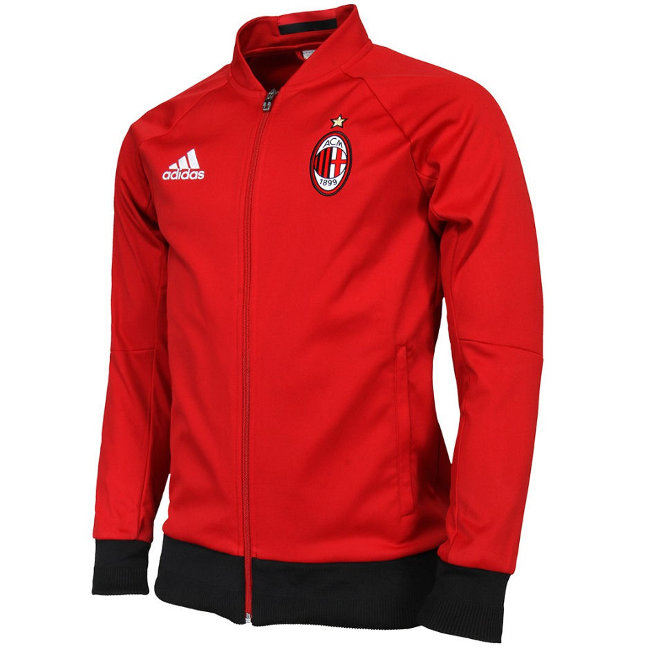 20162017 AC Milan Adidas Anthem Jacket (Red)