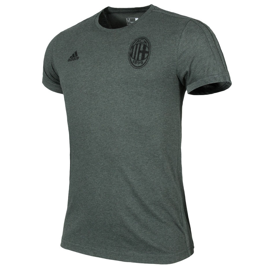 2016-2017 AC Milan Adidas Graphic Tee (Shadow Ivy)