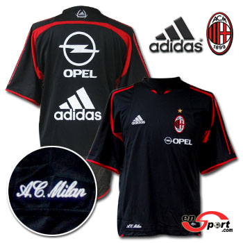 AC Milan training shirt - black 04/05