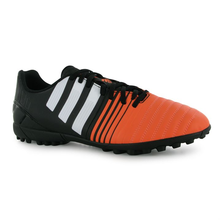 adidas Nitrocharge 4.0 Mens Astro Turf Trainers (BlackWhiteFlash)