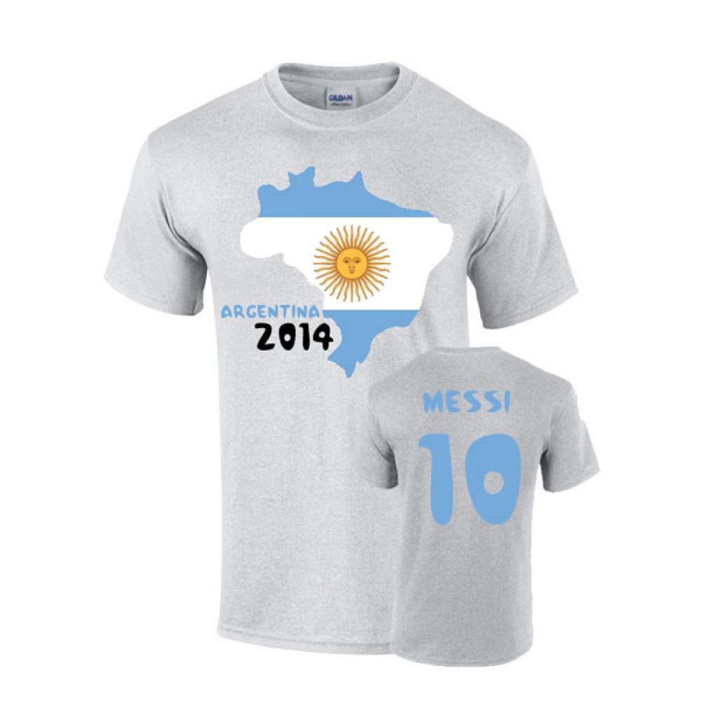 Argentina 2014 Country Flag Tshirt (messi 10)