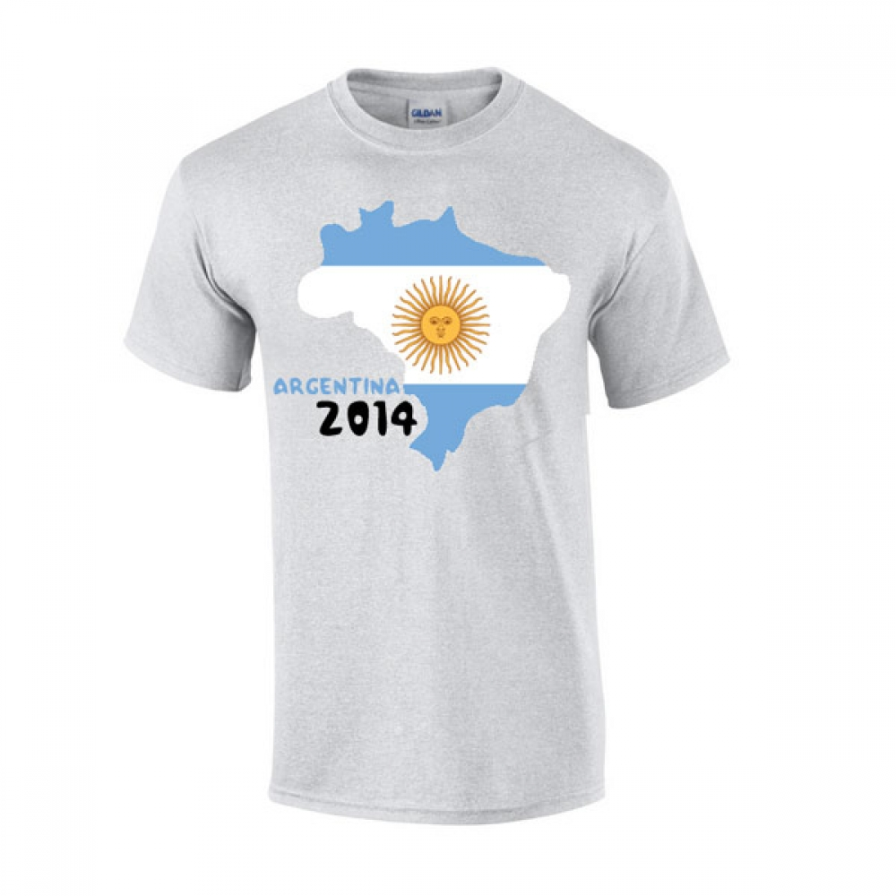 Argentina 2014 Country Flag Tshirt (grey)