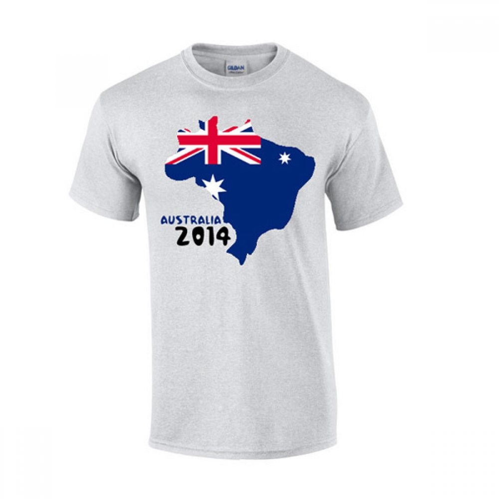 Australia 2014 Country Flag Tshirt (grey)