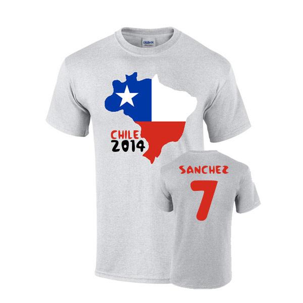 Chile 2014 Country Flag T-shirt (sanchez 7)