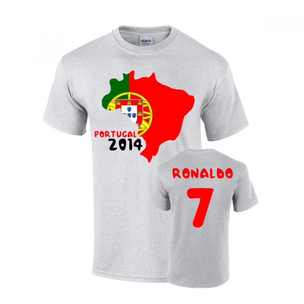 ad31b3b9a ... 2014-15 Cameroon Home World Cup Football Shirt . Portugal 2014 Country  Flag T-shirt (ronaldo 7) TSHIRTGREY - Uksoccershop ...