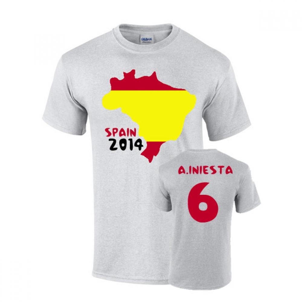 Spain 2014 country flag t shirt fabregas 10 tshirtgrey for Spain polo shirt 2014