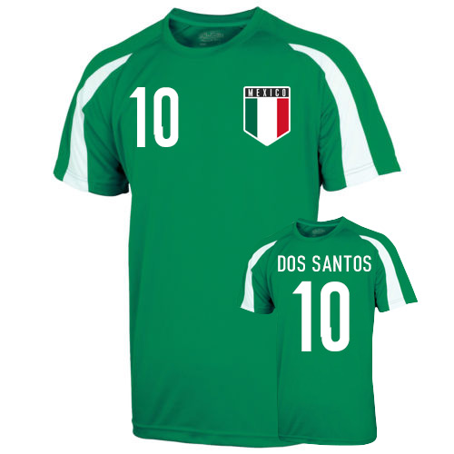 Mexico Sports Training Jersey (dos Santos 10)