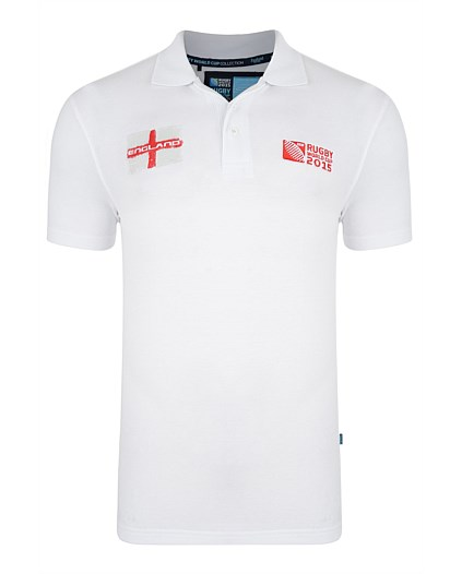 England Rwc 2015 Polo Shirt (white)