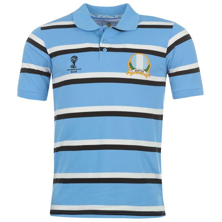 Argentina 2014 FIFA Stripe Polo Shirt (Blue)