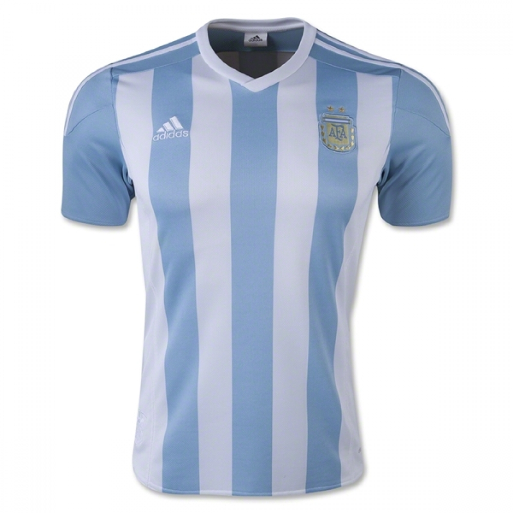2015 2016 Argentina Home Adidas Football Shirt Kids