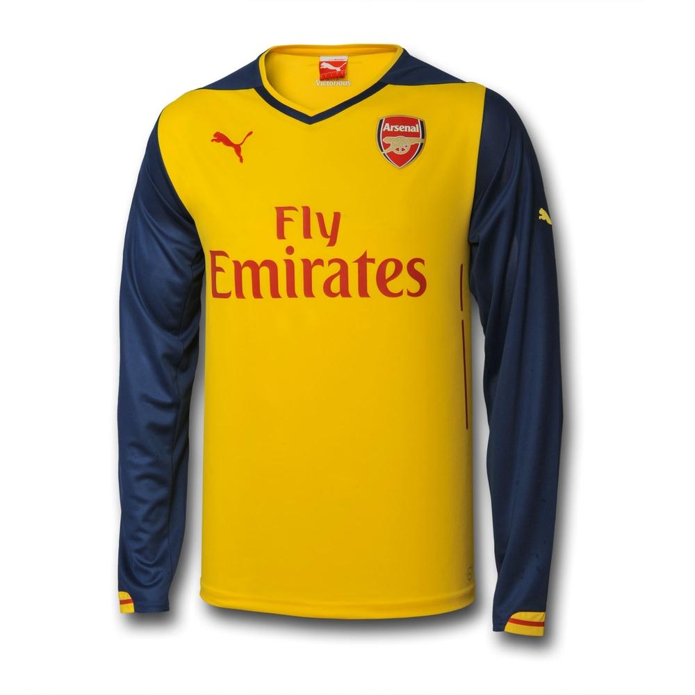 b746e1ba2 ... 2014-2015 Arsenal Puma Away Long Sleeve Shirt (Kids) 74646508 -  Uksoccershop ...
