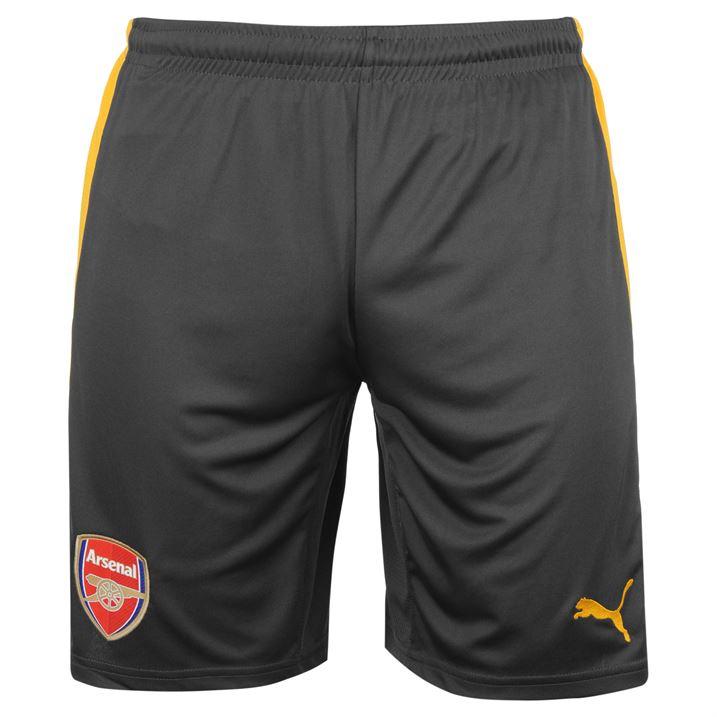 2016-2017 Arsenal Away Football Shorts (Ebony)