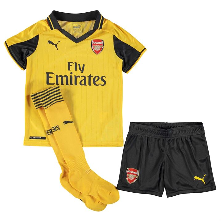 20162017 Arsenal Away Little Boys Mini Kit