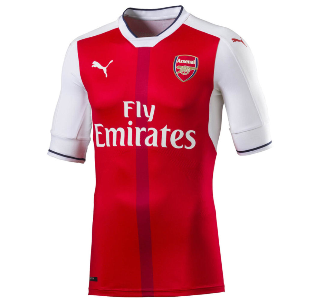20162017 Arsenal Puma Home Authentic Football Shirt