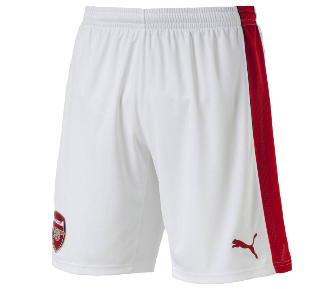 2016-2017 Arsenal Home Football Shorts (White)