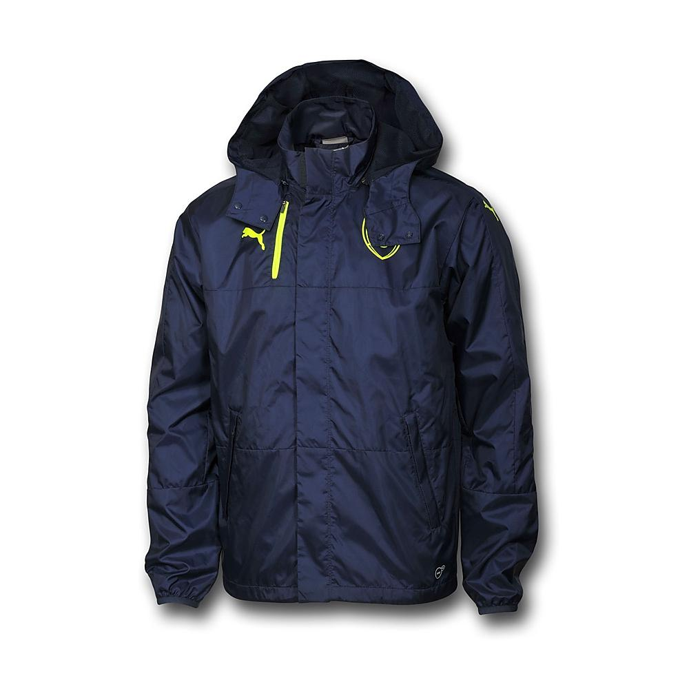20162017 Arsenal Puma Performance Rain Jacket (Peacot)