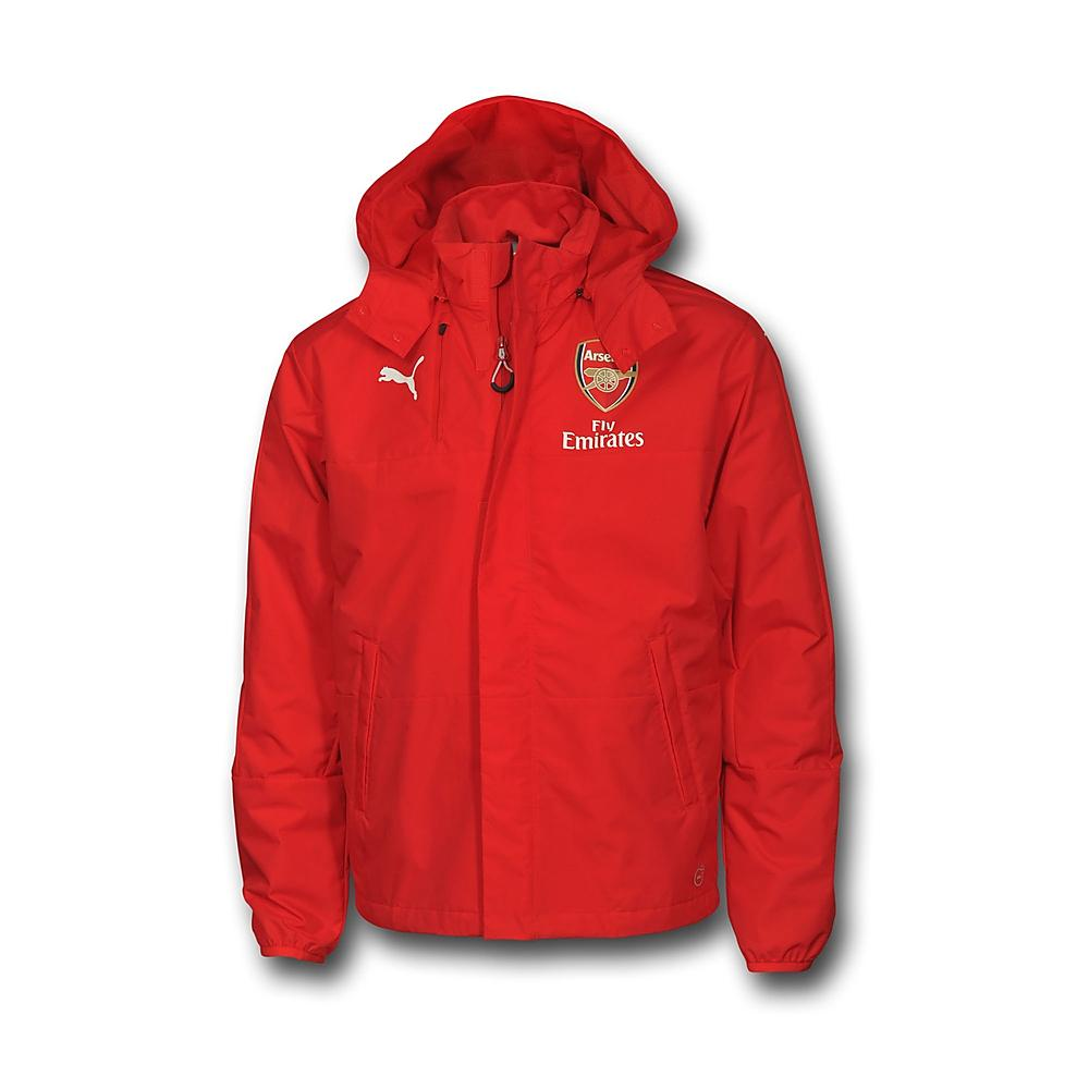 20162017 Arsenal Puma Performance Rain Jacket (Red)