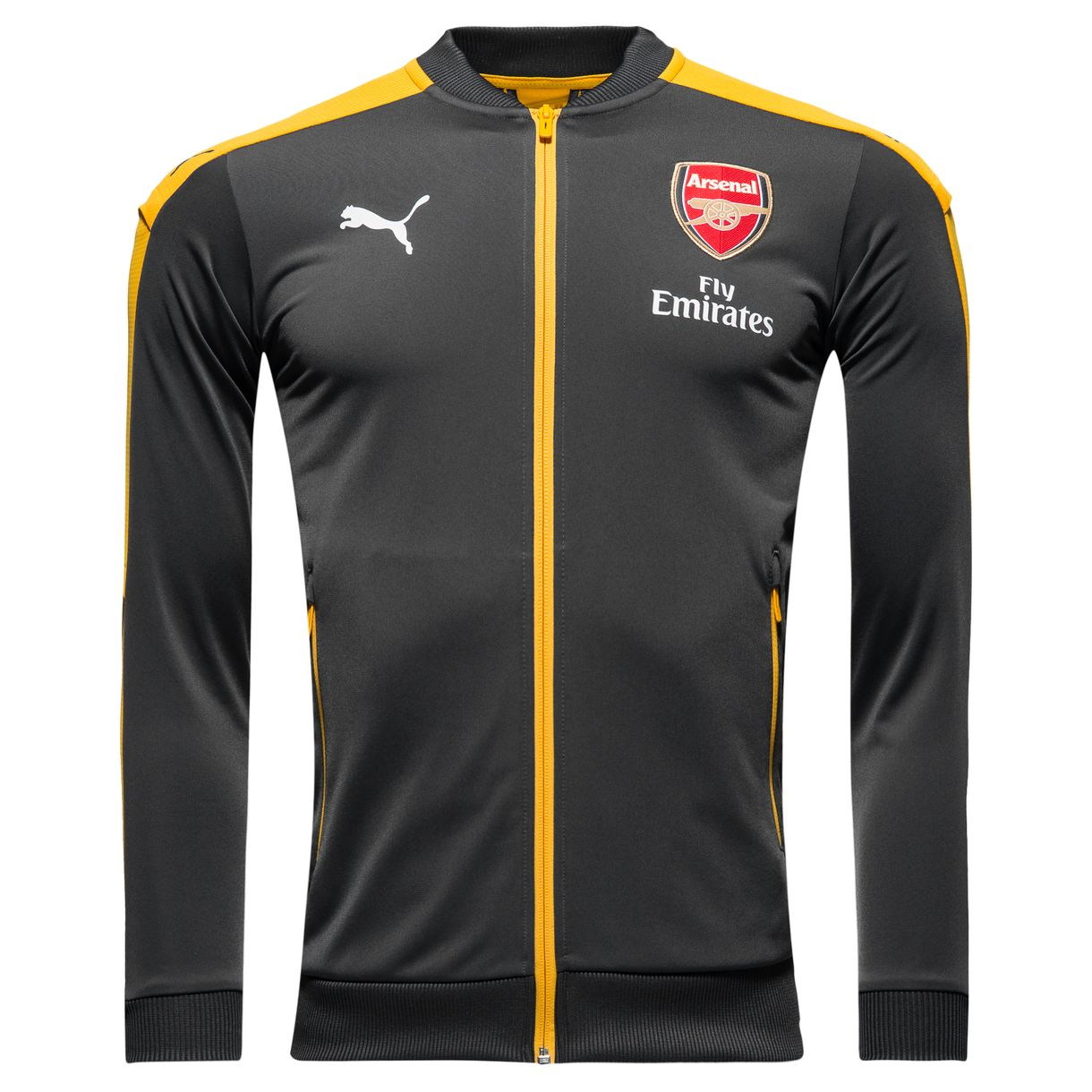 20162017 Arsenal Puma Stadium Jacket (Ebony)